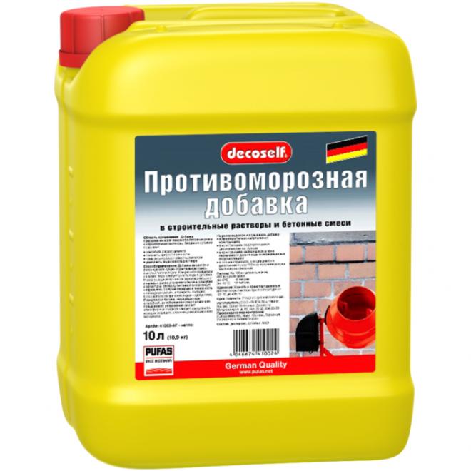 Противоморозная добавка Пуфас в строит.растворы и бетон до -15, 10л