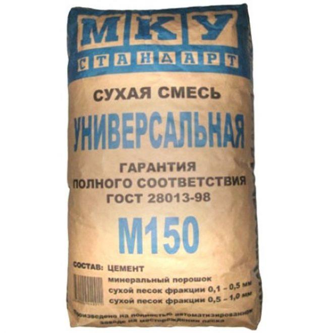 Сухая смесь М-150 (пескобетон) 40кг