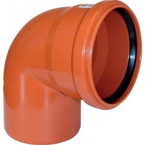Отвод 110х90* оранжевый