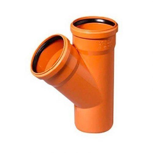 Тройник 110х110х45* оранжевый