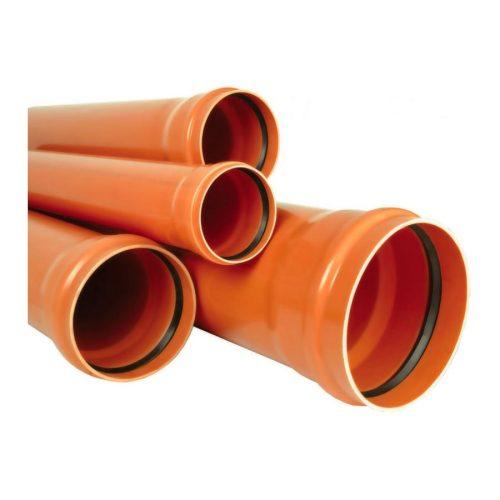Труба наружняя гладкая 110х3.2х3000 оранжевая