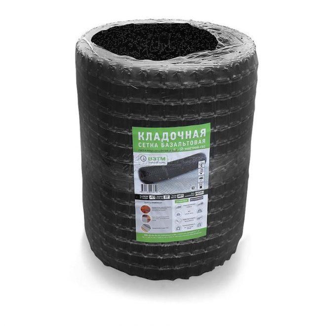 Базальтовая сетка кладочная 25ммх25мм (0.25 х50м.)