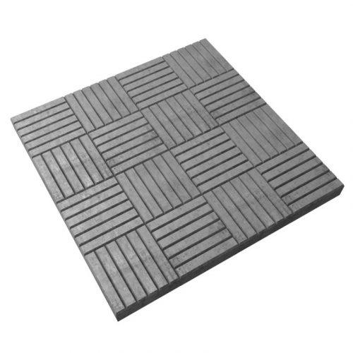 Плитка 30х300х300 серая 8 кирпичей (156)