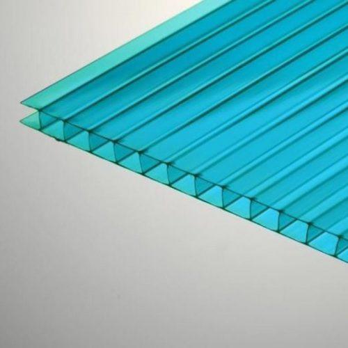 Поликарбонат сотовый стандарт 8мм бирюза 2.10х12.0 (п.м.)
