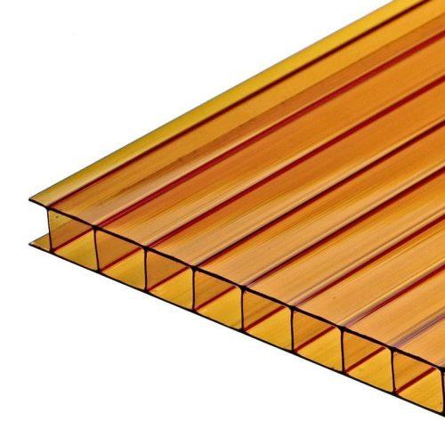 Поликарбонат сотовый стандарт 8мм оранжевый 2.10х12.0 (п.м.)