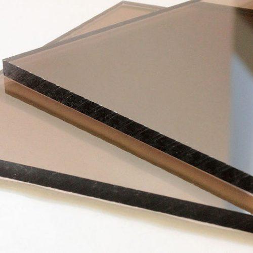 Монолитный поликарбонат 4мм коричневый 2,04х3,05
