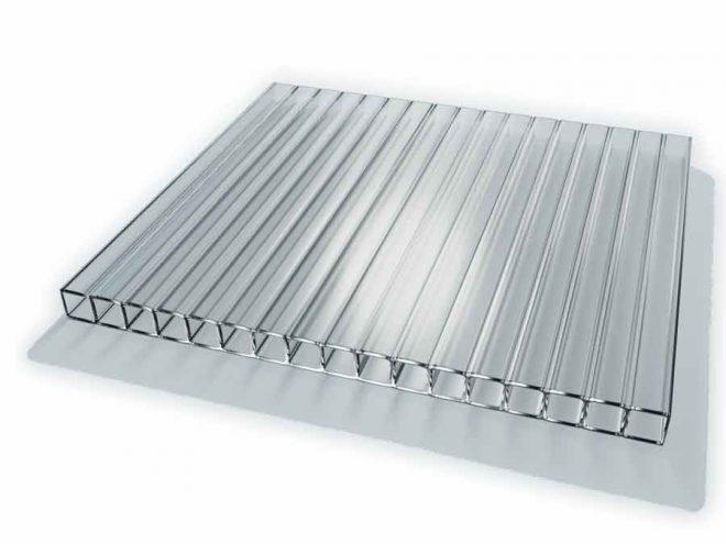 Поликарбонат  сотовый стандарт 8мм прозрачный 2,10х12.0 (п.м.)