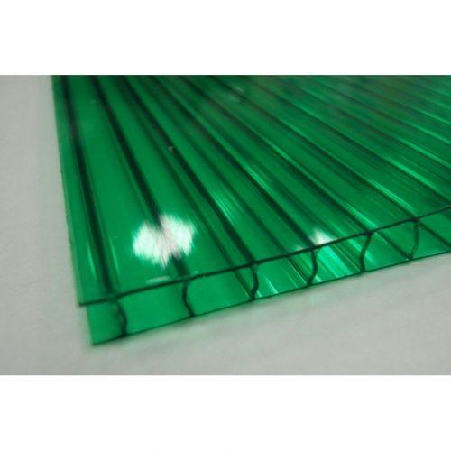 Поликарбонат сотовый стандарт 6мм зеленый 2.10х12.0 (п.м.)