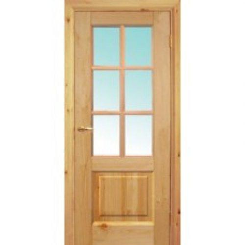 Двери б/сучковые со стеклом 2х0.8