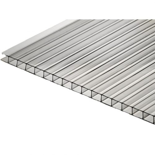 Поликарбонат  сотовый стандарт 4мм прозрачный БИО / АГРО-ТИТАН 2.10х12.0 (п.м.)