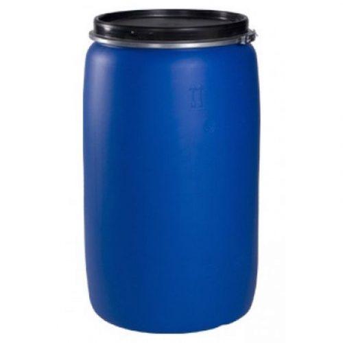 Бочка пластмассовая синяя с крышкой 227л