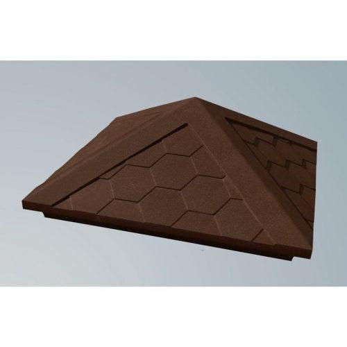 Колпак на столб полимерно песчаный 385х385 коричневый