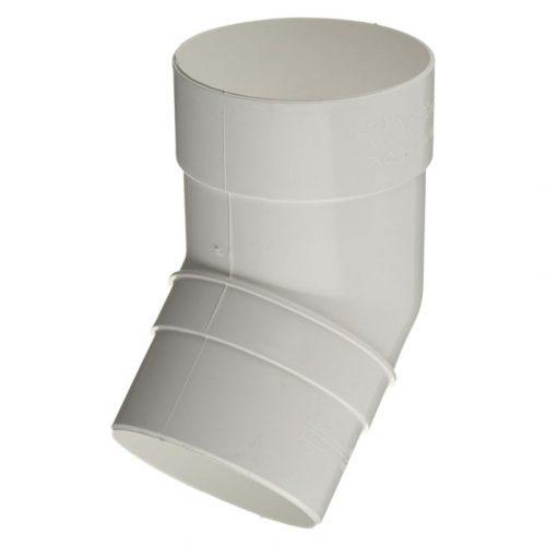 VERAT колено трубы 135* белое (7)