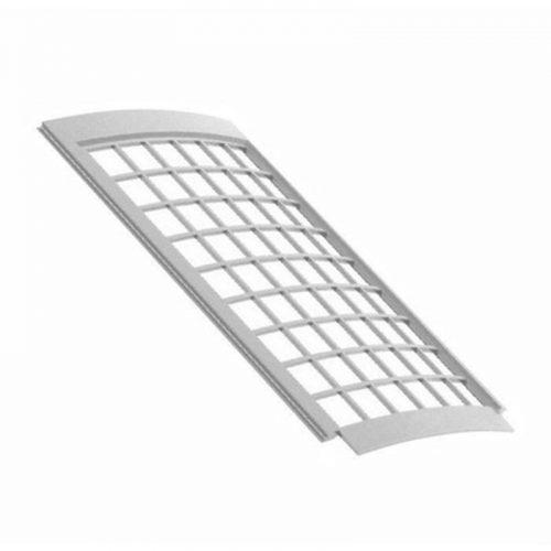 VERAT решетка желоба защитная 0,6 п.м. белая