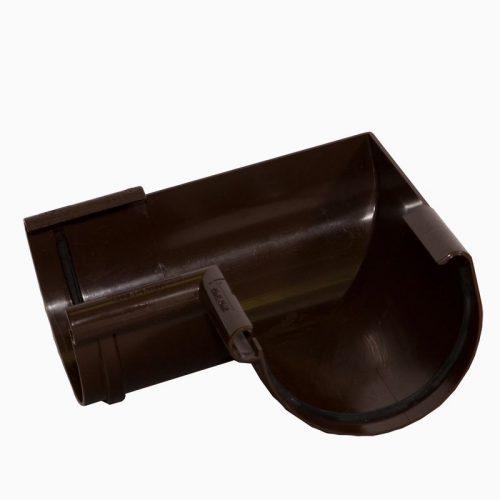 VERAT угол желоба 90* коричневый (2)