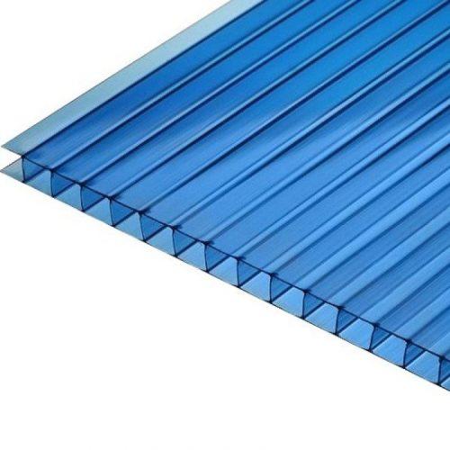 Поликарбонат сотовый стандарт 4мм синий 2.10х12.0 (п.м.)