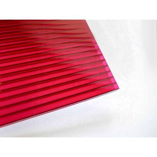 Поликарбонат сотовый стандарт 4мм красный 2.10х12.0 (п.м.)