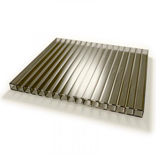 Поликарбонат сотовый стандарт 4мм бронза 2.10х12.0 (п.м.)