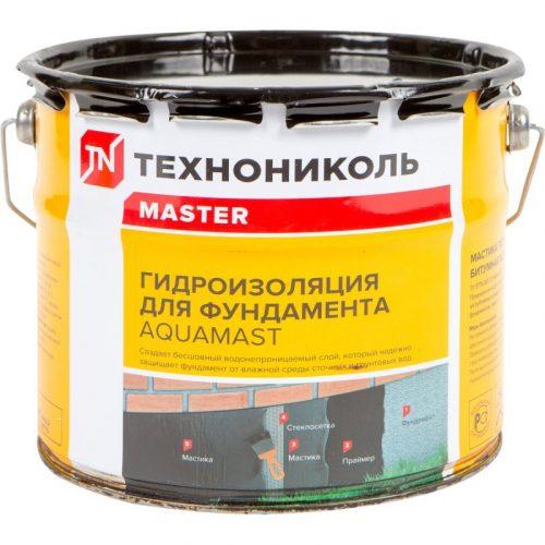 Мастика битумная для гидроизоляции фундамента Aquamast 3кг