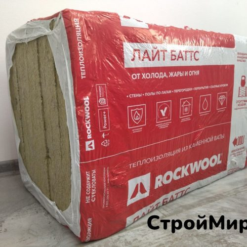 Утеплитель Роквул Лайт Баттс Скандик 1000х600х100 мм, 3,0 м² (пачка 5 шт.)