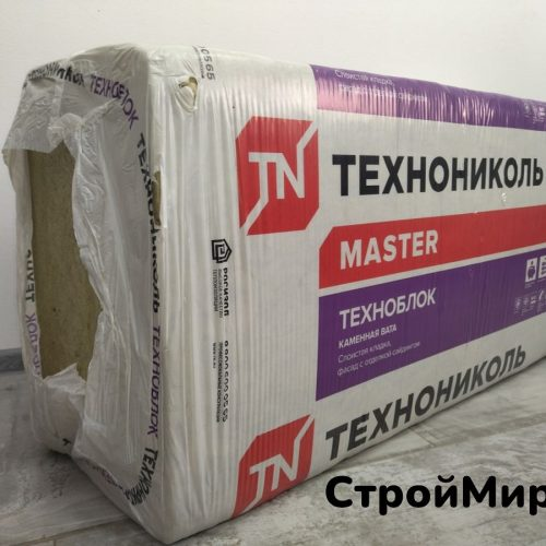 Утеплитель Технониколь Техноблок Стандарт 1200х600х50 мм, 5,76 м² (пачка 8 шт.)